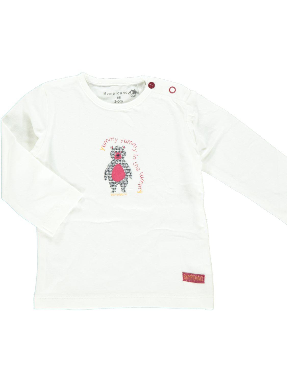 Bampidano Shirt Lange Mouw  - Off White - Katoen/elasthan