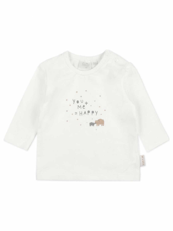 Feetje Shirt Lange Mouw  - Off White - Katoen/elasthan