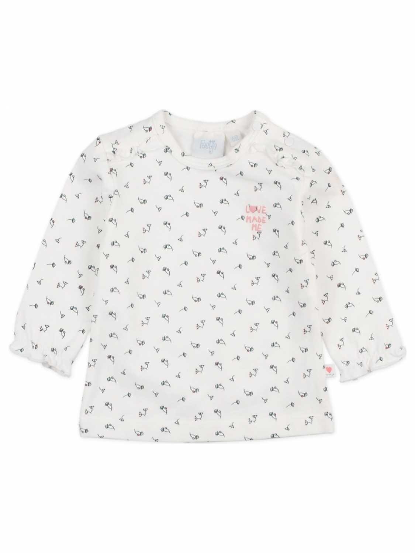 Feetje Shirt Lange Mouw  - Off White - Katoen/polyester/elasthan