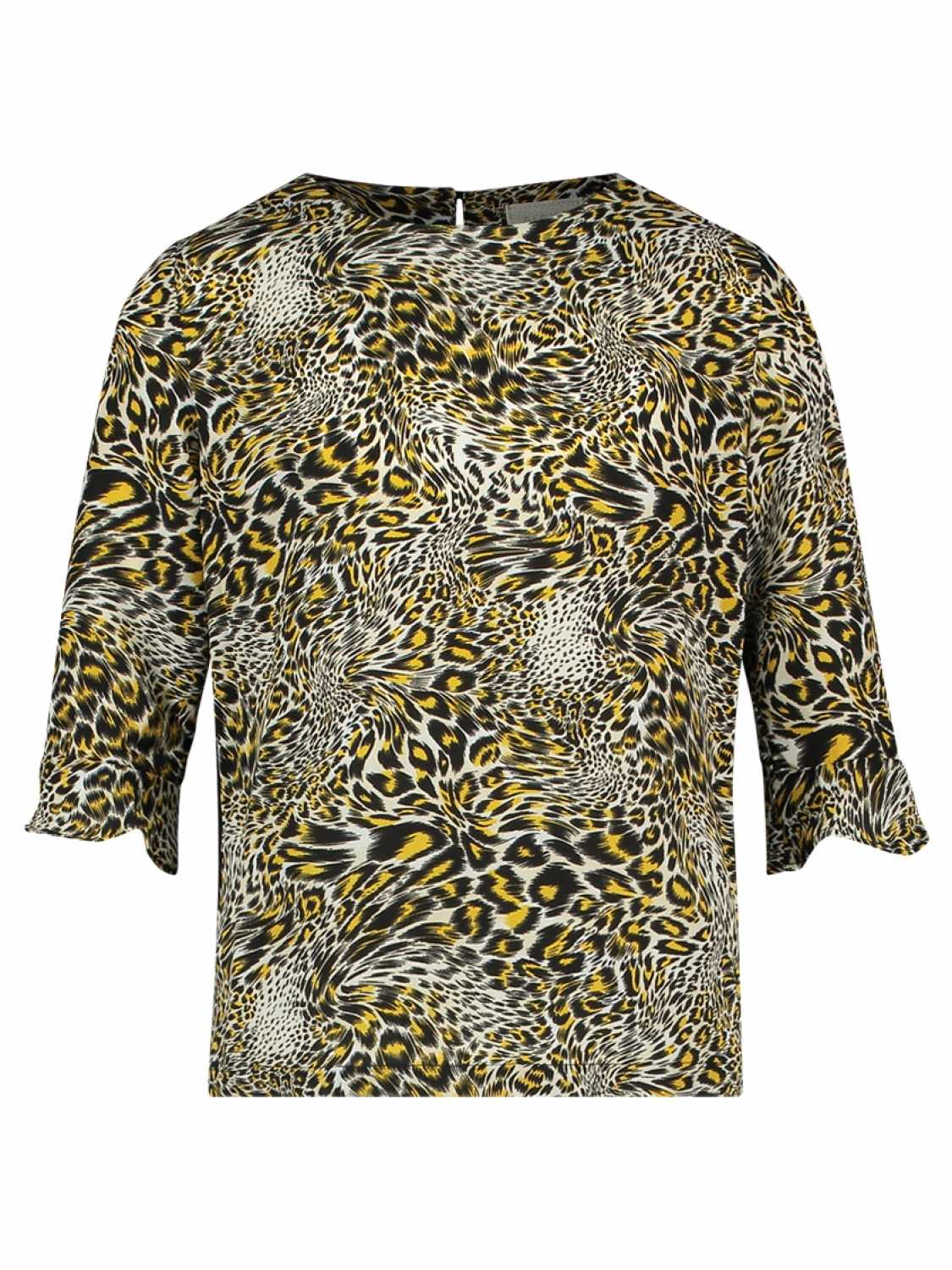 AI&KO Shirt lange mouw - meisjes - All over print -