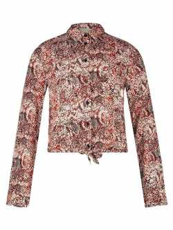 AI&KO Blouse lange mouw - meisjes - All over print -