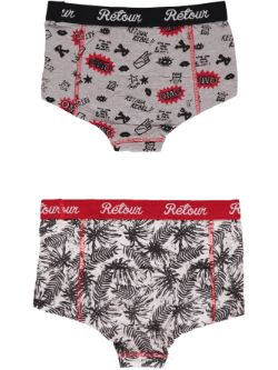 Retour Denim 2-pack Boxer - meisjes - All over print - achterkant